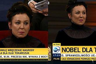 Olga Tokarczuk otrzymała Literacką Nagrodę Nobla! Podczas ceremonii jej oczach pojawiły się łzy