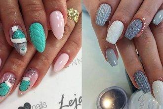 Sweterkowy manicure - 20 inspiracji na wyjątkowe, zimowe paznokcie [GALERIA]