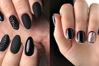 Czarny manicure - 25 stylowych propozycji znalezionych w sieci [GALERIA 2020]
