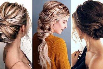 Fryzury na wesele dla włosów półdługich i długich [GALERIA]