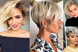 Krótkie fryzury - 16 zjawiskowych cięć dla kobiet o jasnych włosach