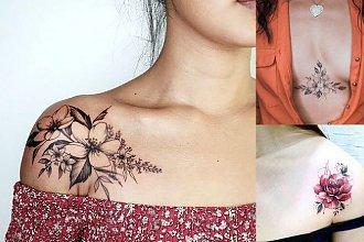 Tatuaże na dekolcie i ramieniu - top 15 genialnych projektów