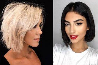 Włosy w pół szyi – galeria fryzjerskich trendów 2020