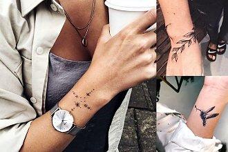 Tatuaż w okolicy nadgarstka - galeria przepięknych wzorów dla kobiet