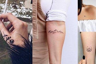 Małe tatuaże - 25 unikatowych i subtelnych wzorów