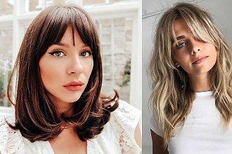 Półdługie fryzury z grzywką 2020 - galeria stylowych cięć