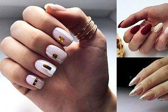25 pomysłów na manicure ze złotymi zdobieniami [galeria]