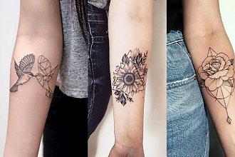 Geometryczne tatuaże - 21 ślicznych wzorów dla kobiet