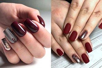 Bordowy manicure - 20 przepięknych i gustownych zdobień