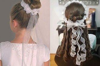 Fryzury komunijne 2020 -  25 pomysłów na fryzurę dla małej dziewczynki [GALERIA]