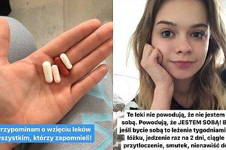 Julia Wróblewska cierpi na poważne zaburzenie psychiczne. Bierze mnóstwo leków