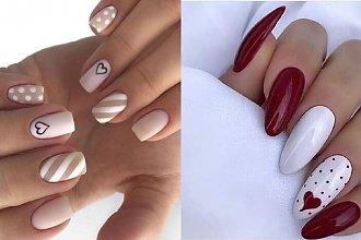Walentynkowy manicure - 27 propozycji na walentynkowe paznokcie [GALERIA 2020]