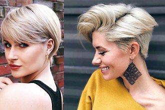 Fryzury pixie i undercut - galeria stylowych cięć dla blondynek