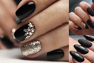 Czarny manicure - aż 25 eleganckich i stylowych zdobień!