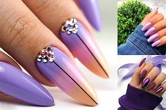 Fioletowy manicure - kilkanaście ultramodnych stylizacji
