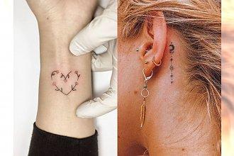 Małe tatuaże - 25 wyjątkowych wzorów na tatuaże dla kobiet [GALERIA 2020]