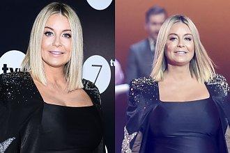 Małgorzata Rozenek prezentuje ciążowy brzuszek w bardzo obcisłej czarnej sukni na ramówce TVN. Widać, że to już 6 miesiąc?