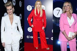 Na wiosennej ramówce TVN królował jeden krój: damski garnitur! Która gwiazda wyglądała w nim najlepiej?