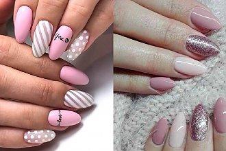 Różowy manicure - 21 uroczych wzorów w różnych odcieniach różu [GALERIA]