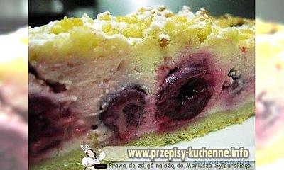 Ciasto z wiśniami i serem