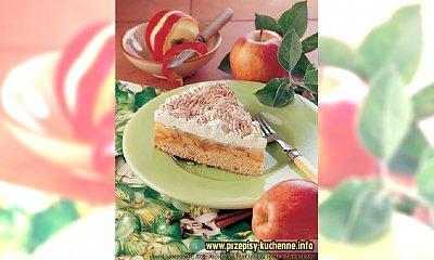 Szarlotka z nadzieniem jabłkowym