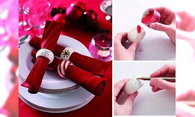 Dekoracje świąteczne: obrączki na serwetki krok po kroku!