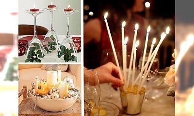 32 pomysły na świecznik bożonarodzeniowy - stroik na stół