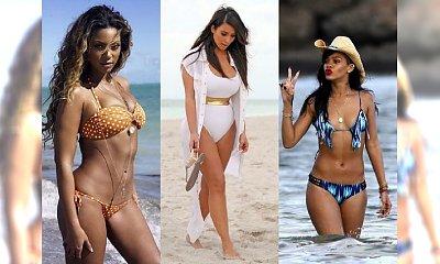Gwiazdy w bikini 2014: Beyoncé, Rihanna i Kim Kardashian
