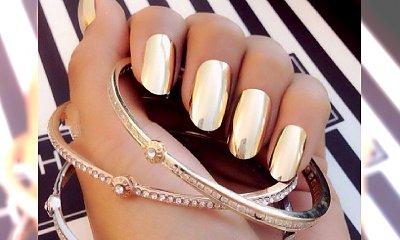 Trendy manicure jesień-zima 2014/15 - metaliczne paznokcie