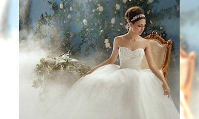 Suknia ślubna jak z bajki Disneya - model princeski