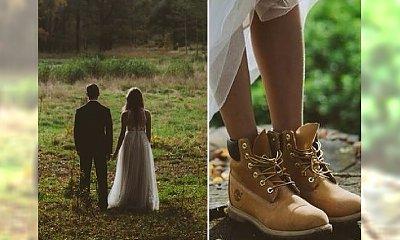 Blogerka założyła Timberlandy do ślubnej sukni!