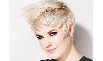 Krótkie fryzury z grzywką dla blondynek