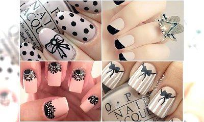 Uroczy i elegancki manicure: nude plus czerń