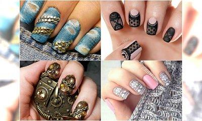 Niesamowite imitacje w manicure