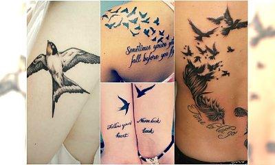 Tatuaż ptaki - wzory na ręce, plecy i stopy