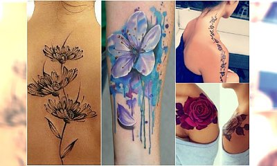 Tatuaże kwiaty - TOP 30 najpięknieszych wzorów