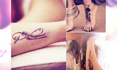 Feather tattoo - aż 30 niepowtarzalnych i subtelnych wzorków!