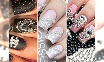 Biżuteryjny manicure 3D. Przyklejamy błyskotki na paznokcie