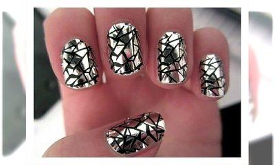 Manicure jak pęknięte lustro. Super wzorek na paznokcie!