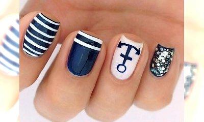 AHOJ! Manicure w stylu marynarskim