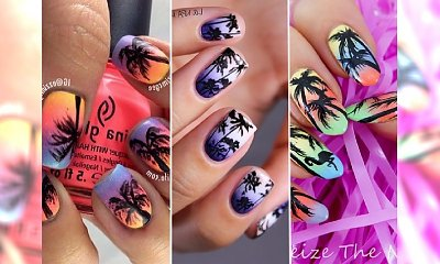 Egzotyczny manicure z palmami - propozycje w sam raz na letnie podróże!