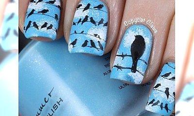 Manicure z motywem ptaków - spokojny i stylowy akcent na paznokciach!