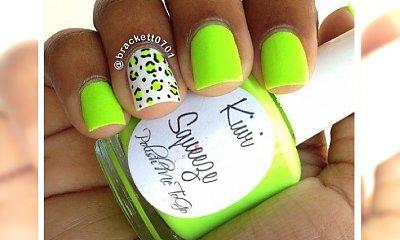 Owocowy manicure w kolorze kiwi! Wypróbuj soczysty kolor i ciesz się latem!