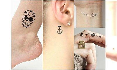 Słodkie małe tatuaże dla dziewczyn - wzory na nadgarstek, palec, za ucho i stopy