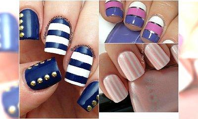Proste pomysły na paznokcie w paski. 20 super wzorów na lato!