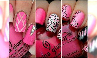 20 pomysłów na różowy manicure. Słodkie wzorki na paznokcie na lato!