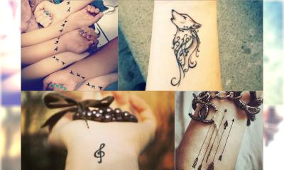 Delikatne, dziewczęce wzory tatuaży na nadgarstek - MEGA galeria najładniejszych wzorów