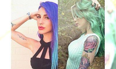 Formuła na zadziorny look - Tatuaż i tęczowe włosy. Propozycje wyłącznie dla odważnych dziewczyn!
