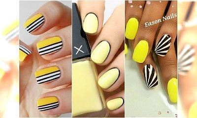 """Żółty manicure. Podpowiadamy, jak z pomysłem ujarzmić ten """"wściekły"""" kolor"""