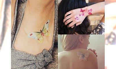Czarujące tatuaże z motylem. Ponad 20 kolorowych i graficznych inspiracji zgodne z trendami 2016!